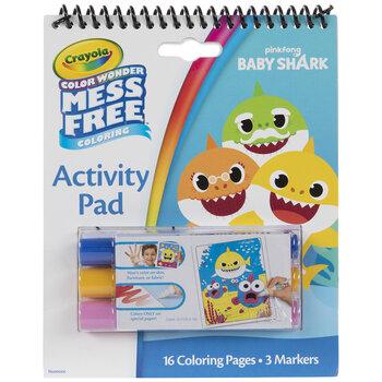 Crayola Baby Shark Color Wonder Coloring Kit
