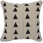 Beige & Black Triangles Pillow Cover