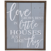 Little Houses Like This Wood Wall Decor
