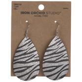 Zebra Print Teardrop Earrings