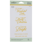 Elegant Holiday Sentiments Glimmer Hot Foil Plates