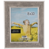"Silver Two-Tone Wall Frame - 8"" x 10"""