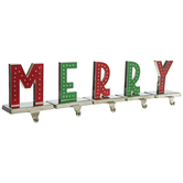 Merry Metal Stocking Holders