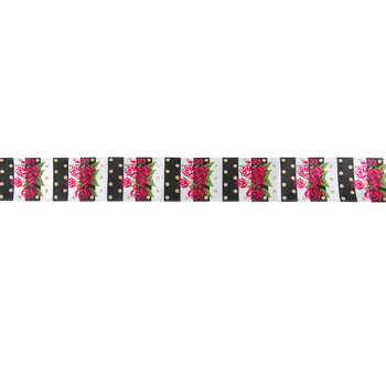 """Floral, Striped & Dot Wired Edge Ribbon - 2 1/2"""""""
