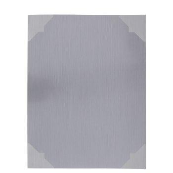 Brushed Metal Silhouette Adhesive Sheets