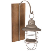 Metal Lantern Wall Sconce