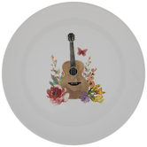 Dolly Parton Floral Guitar Plate
