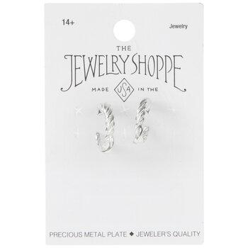 Sterling Silver Plated Twisted Hoop Earrings