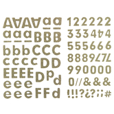 Gold Glitter Basics Alphabet Stickers