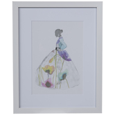 Floral Dress Framed Wall Decor