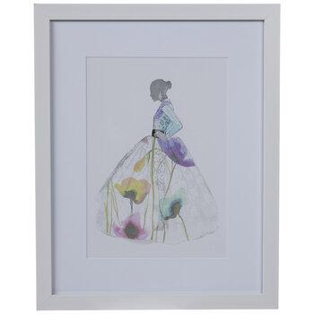 Floral Dress Framed Wall Decor