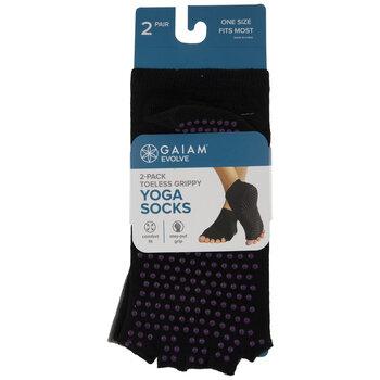 Toeless Grippy Yoga Socks