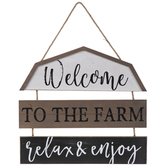 Welcome To The Farm Wood Wall Decor