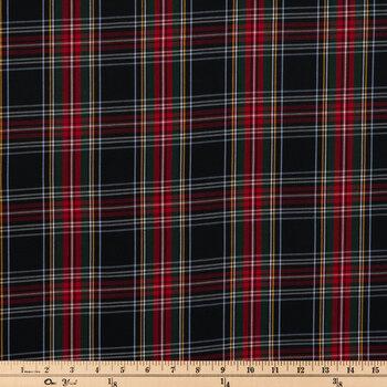 Black, Red & Green Plaid Apparel Fabric