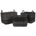 Dark Gray Woven Rectangle Basket Set
