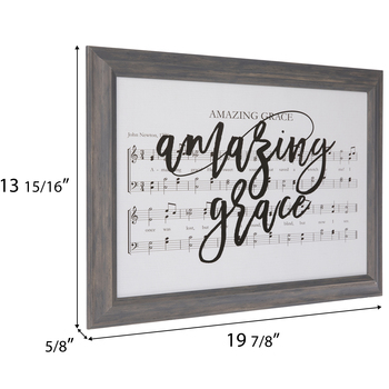 Amazing Grace Framed Wall Decor