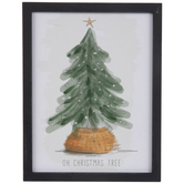 Oh Christmas Tree Wood Wall Decor
