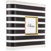Black & White Striped Photo Album