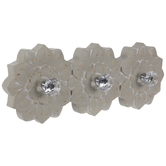 Floral Wood Wall Decor With Knobs