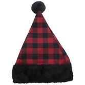 Red Buffalo Check Santa Hat