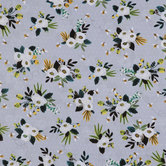 Floral On Mini Dot Cotton Calico Fabric