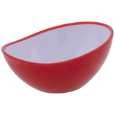 Red Oval Curved Bowl