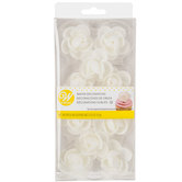 White Flower Wafer Decorations