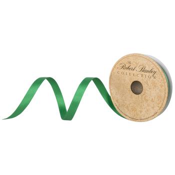 "Green Double-Face Satin Ribbon - 3 /8"""