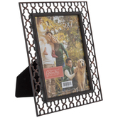 """Antique Copper Lattice Metal Frame - 5"""" x 7"""""""