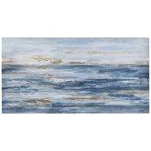 Abstract Blue & Metallic Gold Canvas Wall Decor