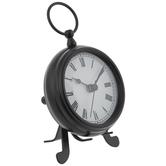 Black Beker Mini Metal Clock