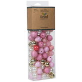 Pink & Gold Round Bead Mix