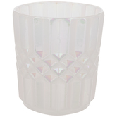 White Opal Glass Candle Holder