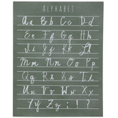 Cursive Alphabet Wood Wall Decor