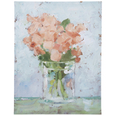 Flowers In Vase Canvas Wall Decor
