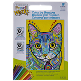 Colorful Cat Color By Number Kit
