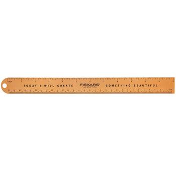 Rose Gold Fiskars Metal Ruler