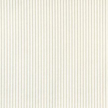 White Tonal Striped Cotton Calico Fabric