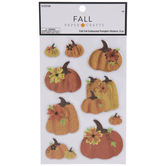 Foil Embossed Pumpkin 3D Stickers