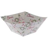 Wreath & Christmas Sentiments Paper Bowls