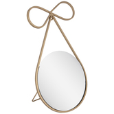 Gold Bow Metal Mirror