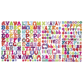 Patterned Alphabet Stickers