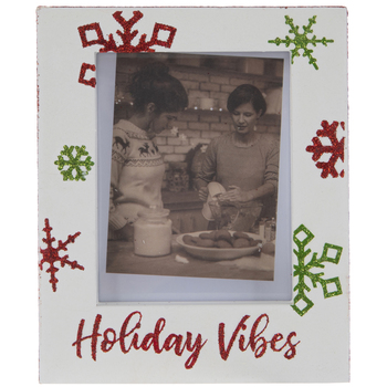 "Holiday Vibes Wood Frame - 2"" x 2 3/4"""