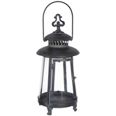 Blue Washed Metal Lantern
