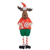 Moose In Snowflake Sweater Ornament