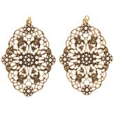 Filigree Pendants With Rhinestones & Plastic Pearls