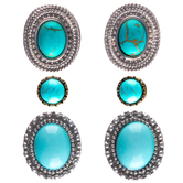 Dyed Imitation Turquoise Earrings