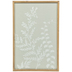 White Leaves On Seafoam Wood Wall Decor