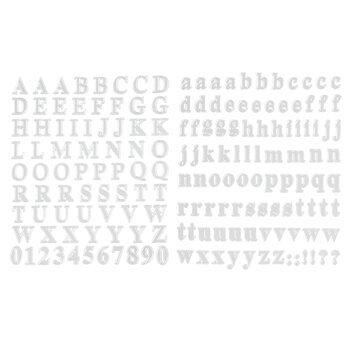 Silver Foil Alphabet Stickers