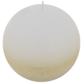 Gold Ombre Ball Candle